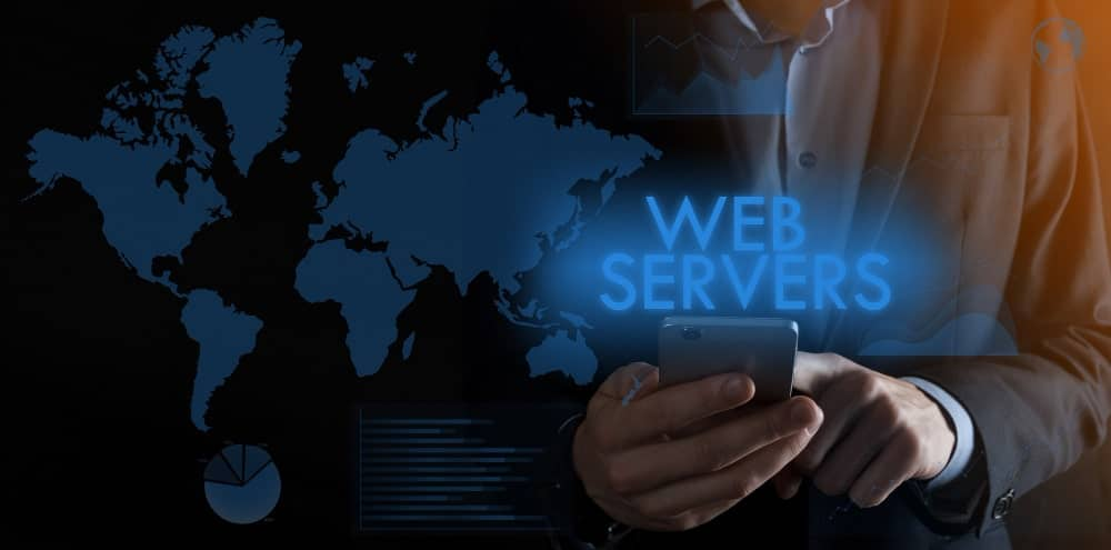businessman-holding-smartphone-with-inscription-web-servers-min